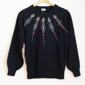 Vintage Jewelled / Beaded Sweater